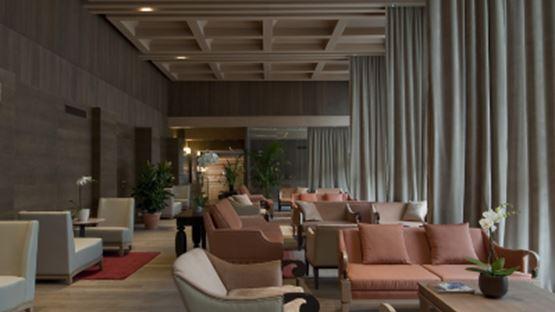 La Sala Enrosadira dell'Hotel Savoia di COrtina d'Ampezzo