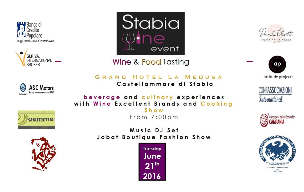 La locandina dello Stabia Wine Event