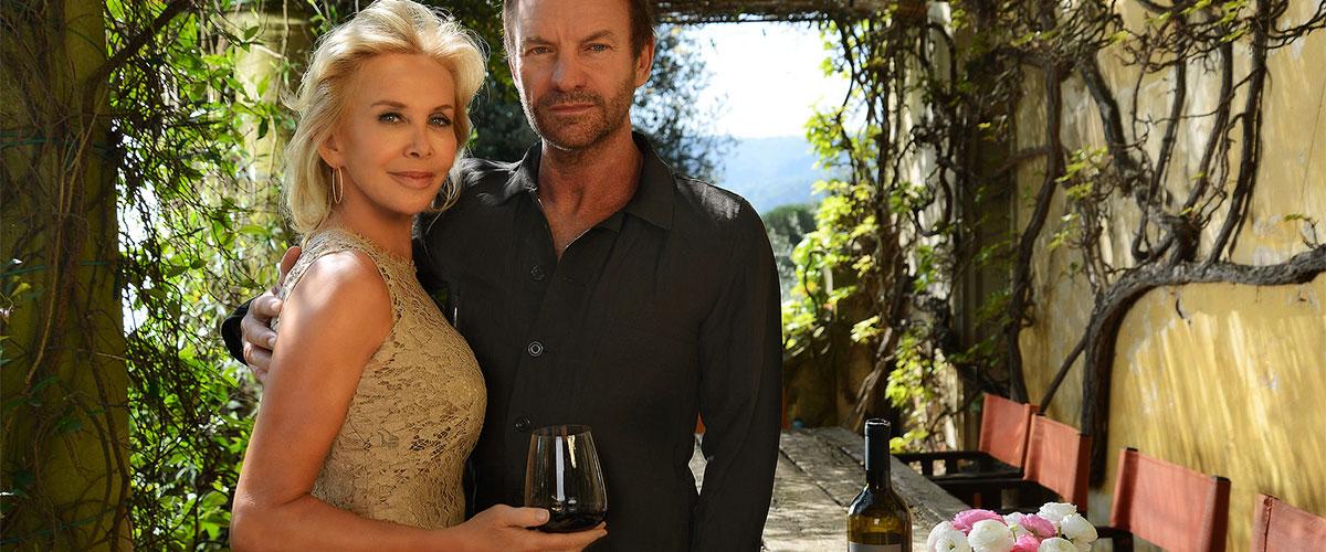 Sting (Gordon Sumner) e sua moglie Trudi